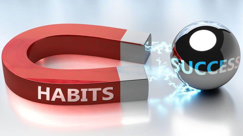 Imán atrayendo al éxito como ejemplo de todo y siempre palabras para la excelencia