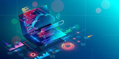 Ilustración de software cloud como ejemplo de digitalización, tecnología y efectividad en OPTIMA LAB