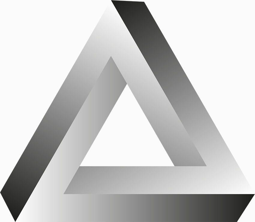 Triángulo infinito como ejemplo de las tres dimensiones de la efectividad personal