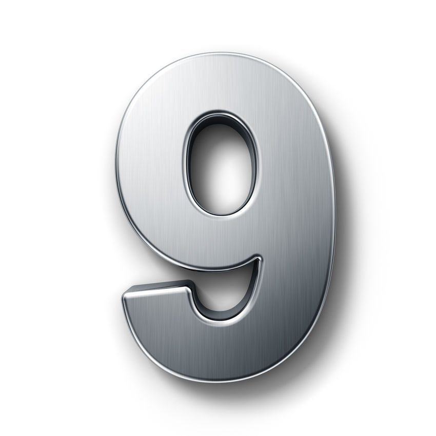 Número 9 como ejemplo de nueve años de consultoría artesana